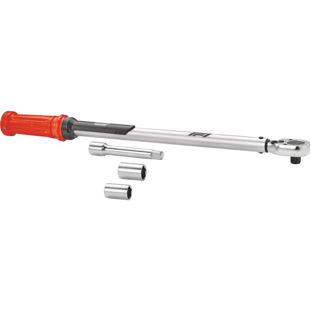 Formula 1 Drehmomentschlüssel »Drehmomentschlüssel + Zubehör TW210«, mit 120 mm Verlängerung und 2 Stecknüssen 17/19 mm
