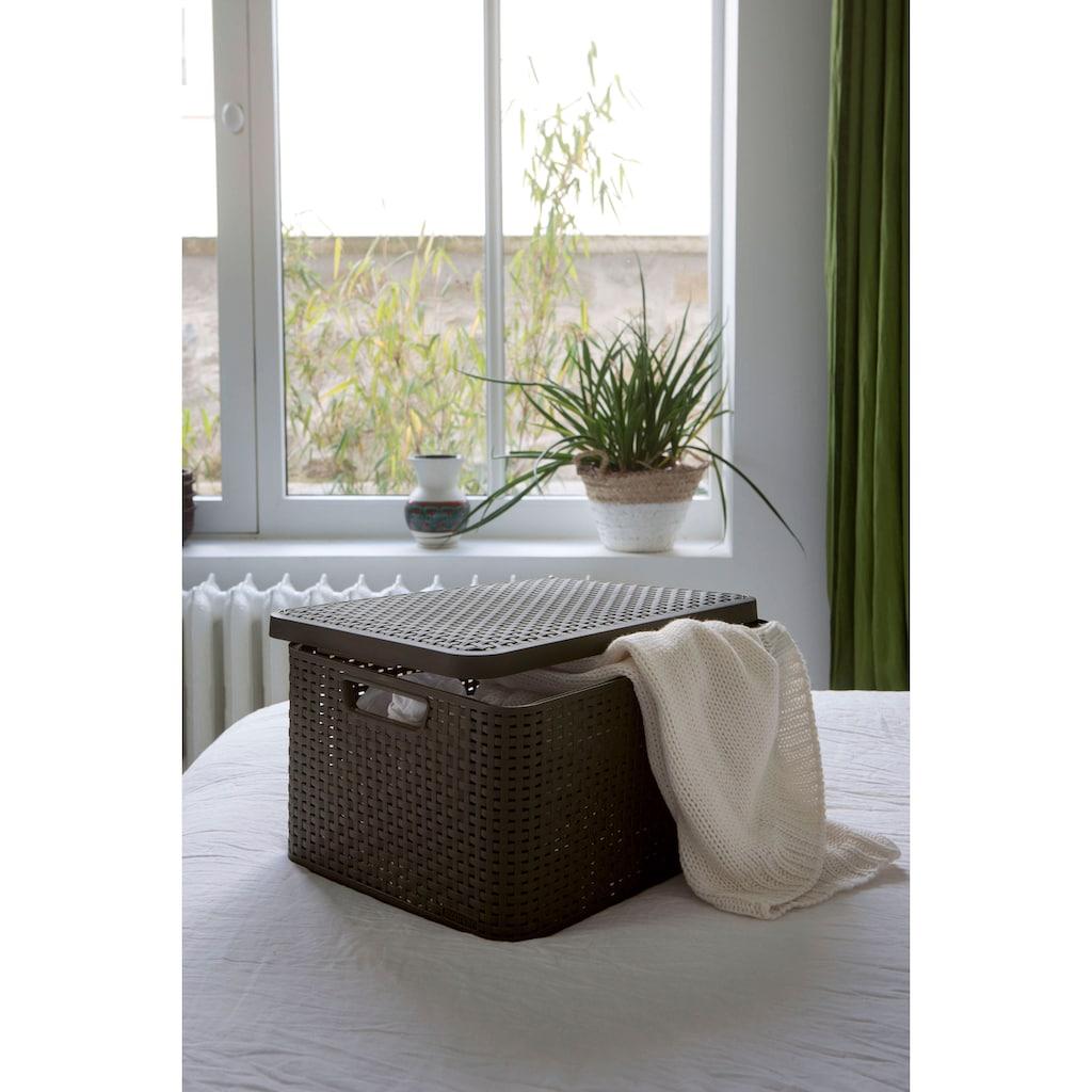 Curver Aufbewahrungsbox »Style Box S«, (Set, 3 St.), dunkelbraun