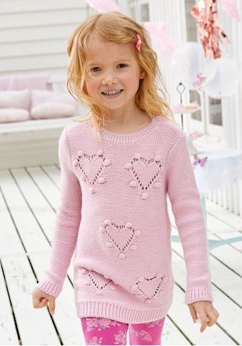 KIDSWORLD Longpullover, mit niedlichen Herzen kaufen