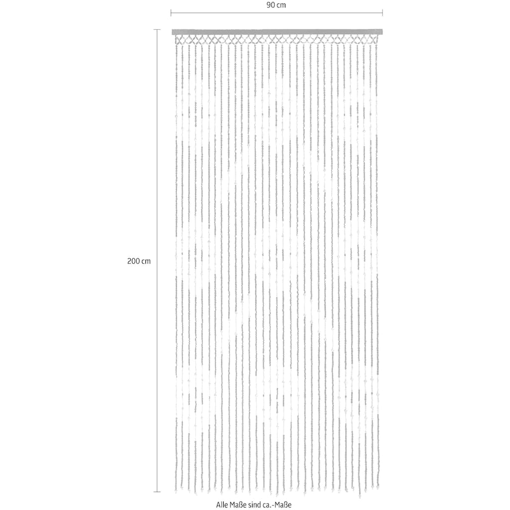 locker Türvorhang »Sevilla«, mit Kreisdekor, 90x200 cm