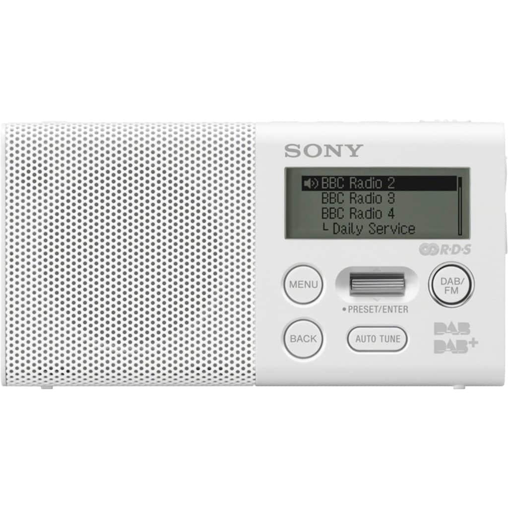 Sony Digitalradio (DAB+) »XDR-P1DBP«, (Digitalradio (DAB+)-FM-Tuner 1,5 W)