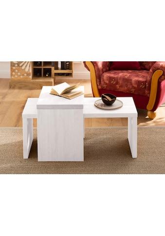Home affaire Couchtisch »Leinz«, (Set, 2 St.), aus massiver Kiefer, Tischplatten in... kaufen