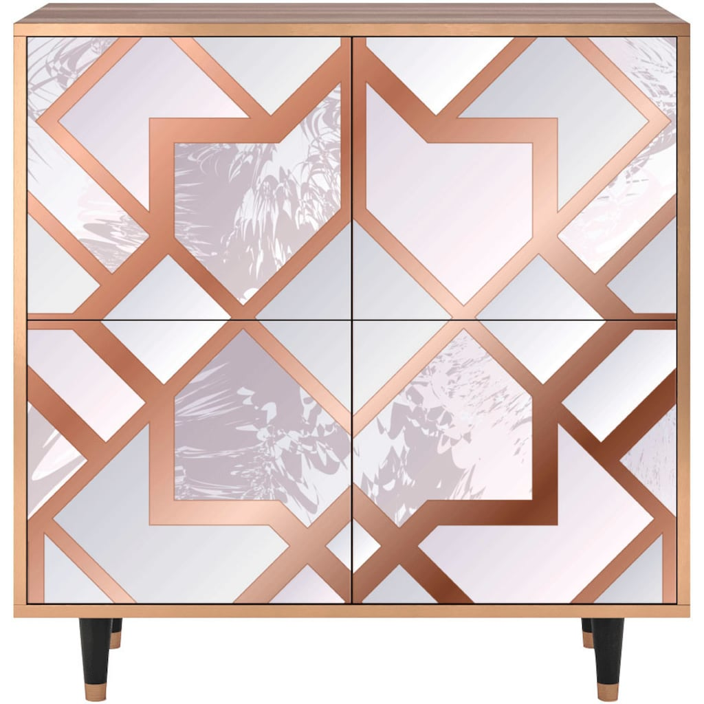 Places of Style Kommode »Pastel Fairy«, mit dekorativem Print auf den Türen