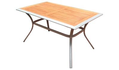 MERXX Gartentisch »Siena«, Alu/Akazie, 140x80 cm kaufen