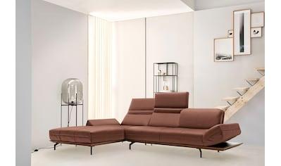 hülsta sofa Ecksofa »hs.420«, XL in 2 Qualitäten, Holzrahmen in Eiche Natur oder Nußbaum kaufen