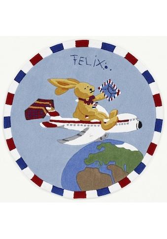 Felix der Hase Kinderteppich »Felix der Hase FE-2934-01«, rund, 10 mm Höhe,... kaufen