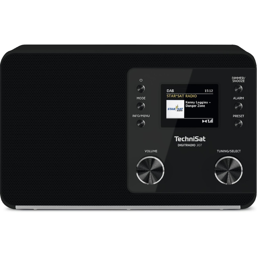 TechniSat Digitalradio (DAB+) »DIGITRADIO 307«, (Digitalradio (DAB+) 5 W), TFT, Uhr, Sleeptimer, Wecker