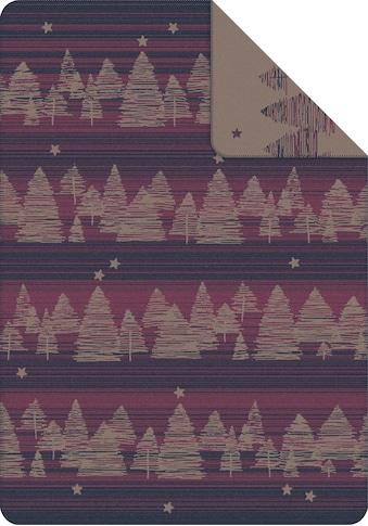 IBENA Wolldecke »Jacquard Decke Montana«, GOTS zertifiziert - nachhaltig aus... kaufen