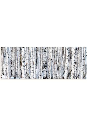 Artland Schlüsselbrett »Winterbirkenwald Wintergelassenheit«, aus Holz mit 4... kaufen