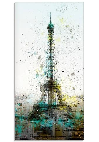 Artland Glasbild »Paris Eiffelturm I«, Gebäude, (1 St.) kaufen