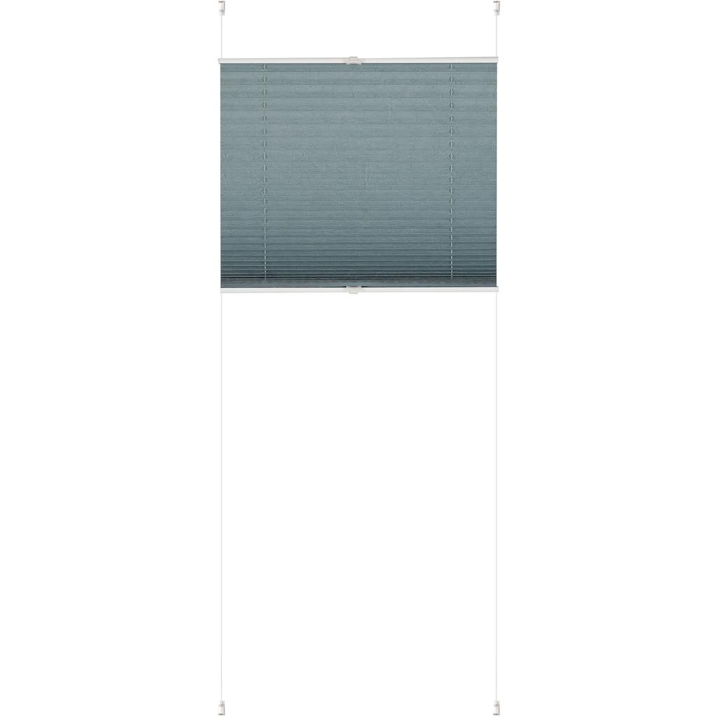 K-HOME Plissee »Klemmfix Pisa«, Lichtschutz, ohne Bohren, verspannt, Crushed-Optik