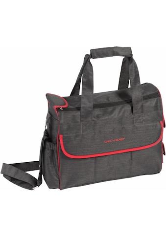 CHIC4BABY Wickeltasche »Luxury, jeans black«, inklusive Wickelunterlage und Thermo-Flaschen-Bag kaufen