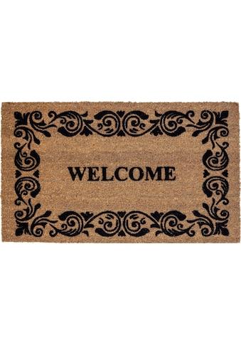 ASTRA Fußmatte »Coco Welcome«, rechteckig, 14 mm Höhe, Schmutzfangmatte, Kokosmatte... kaufen