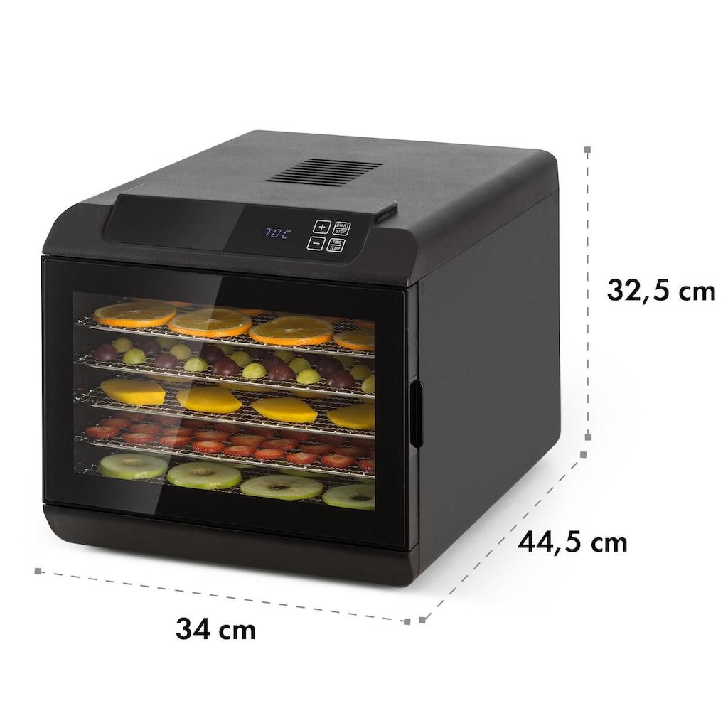 Klarstein Dörrautomat 500W 35-70°C digitales Touch-Display schwarz »Arizona Jerky«