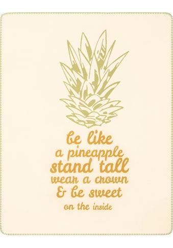 BIEDERLACK Kinderdecke »Pineapple«, mit Schriftzug und Motiv kaufen
