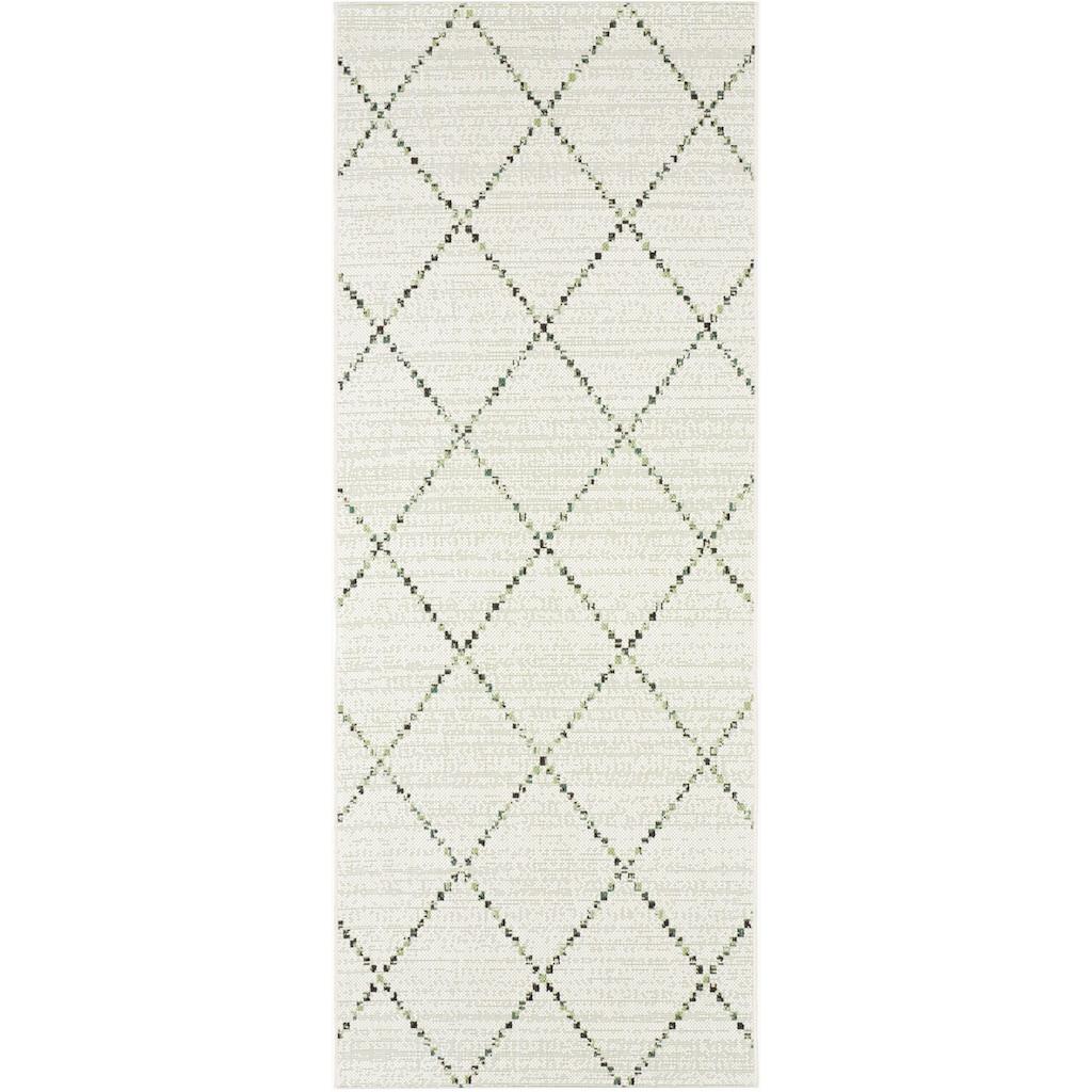 bougari Läufer »Balos«, rechteckig, 8 mm Höhe, Rauten Design, In- und Outdoor geeignet