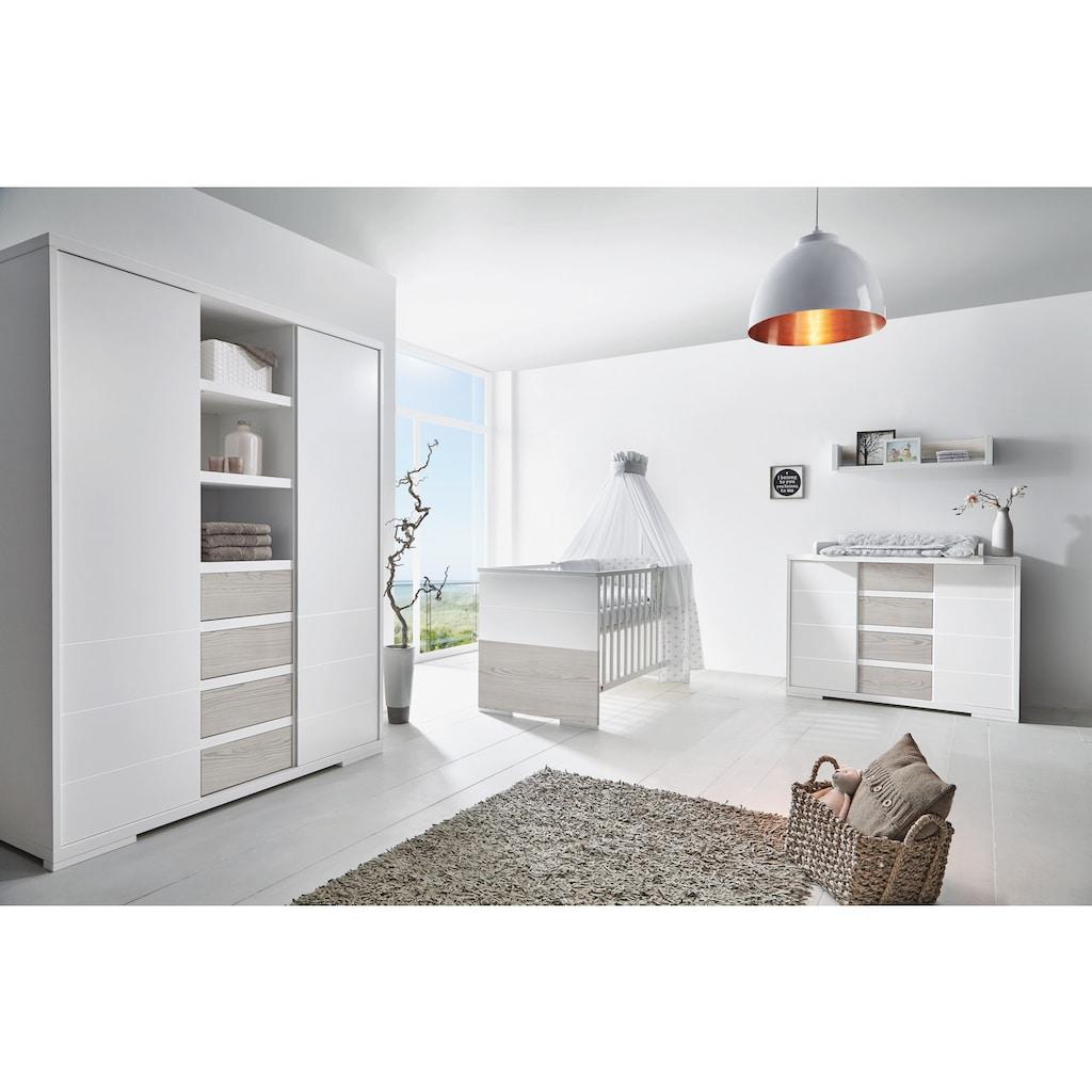 Schardt Babyzimmer-Komplettset »Maxx Boathouse«, (Set, 3 St.), Made in Germany; mit Kinderbett, Schrank und Wickelkommode