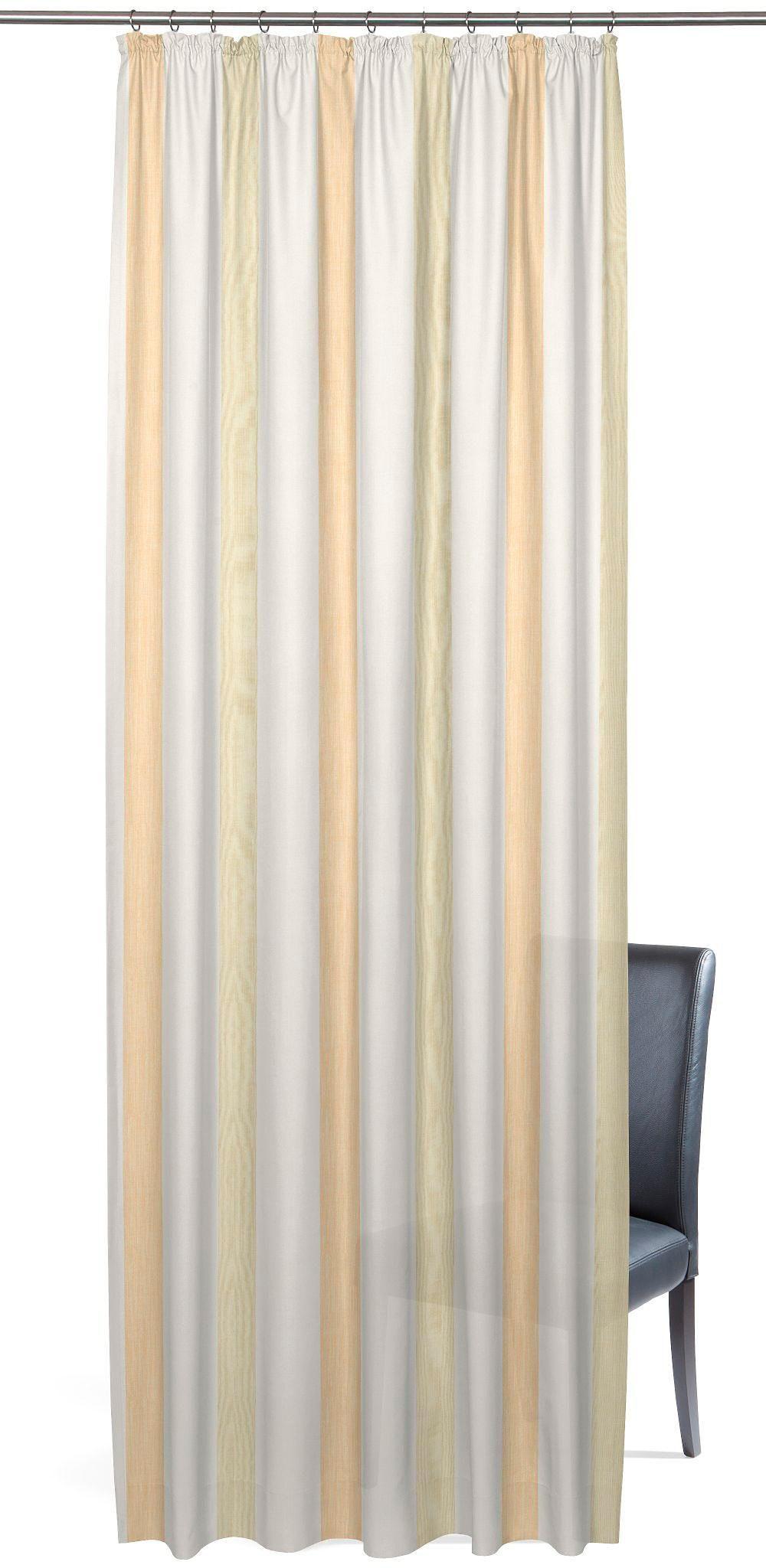 Vorhang, »Garden Stripe«, Gardisette, Kräuselband 1 Stück