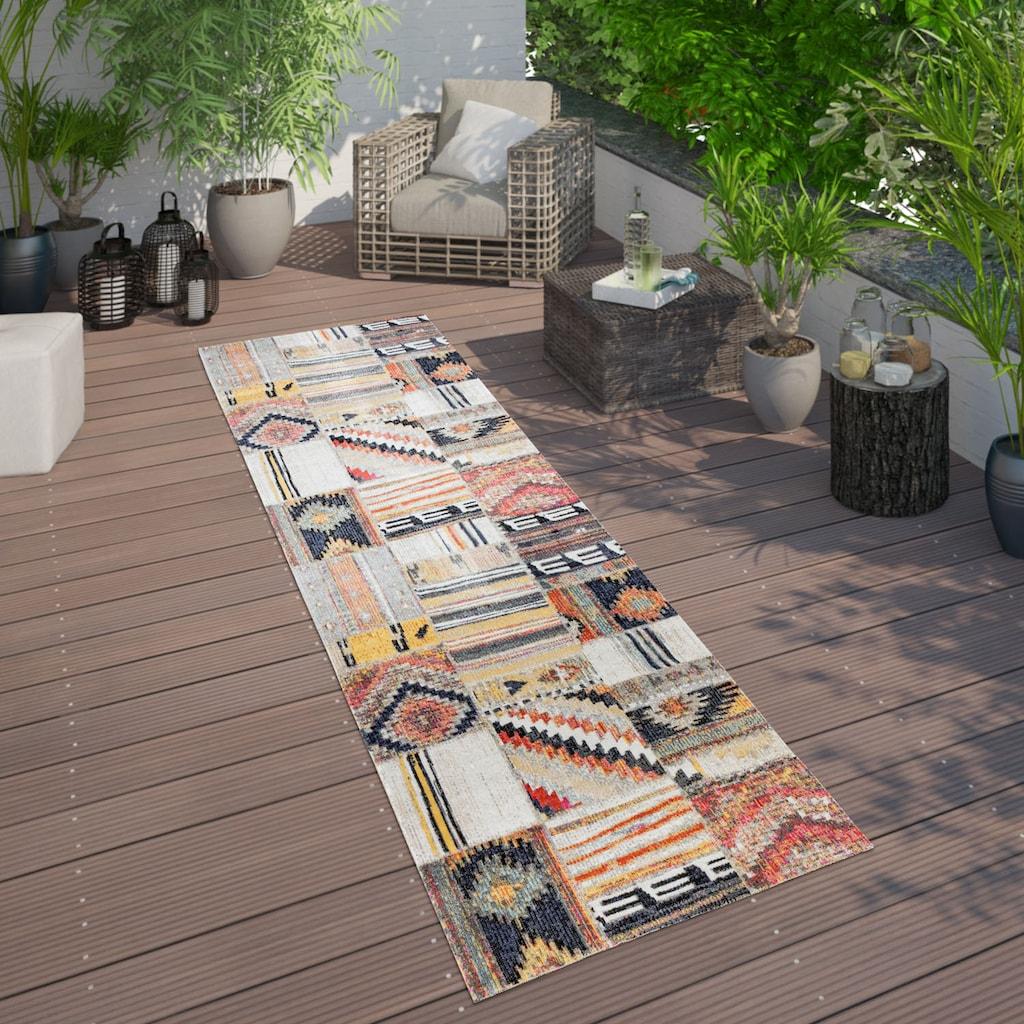Paco Home Läufer »Artigo 406«, rechteckig, 4 mm Höhe, Teppich-Läufer, gewebt, In- und Outdoor geeignet, Vintage Design