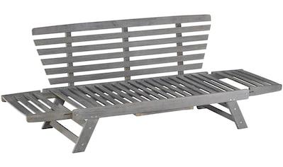 MERXX Gartenbank »Daybed Akazie«, Akazienholz, klappbar, 80x200x67 cm, inkl. Auflagen kaufen