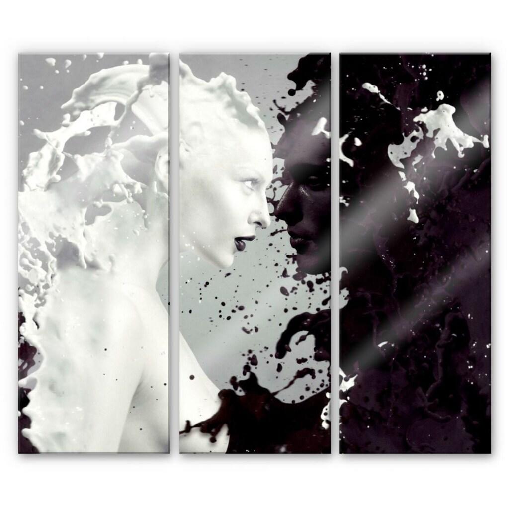 Wall-Art Mehrteilige Bilder »Milch & Kaffee Liebe (3-teilig)«, (Set, 3 St.)
