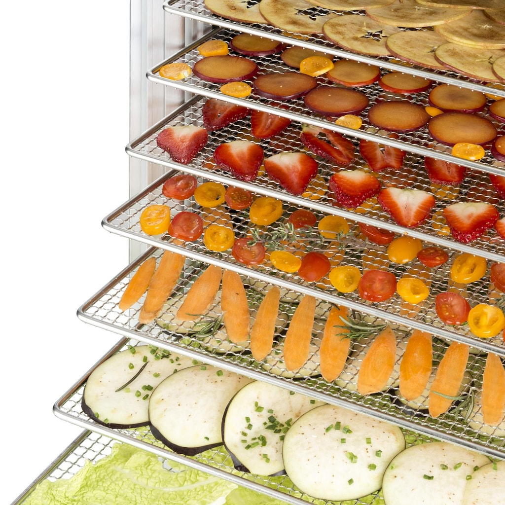 Klarstein Dörrautomat 14 Edelstahl-Etagen Dörrgerät Dehydrator »FruitJerky 14«