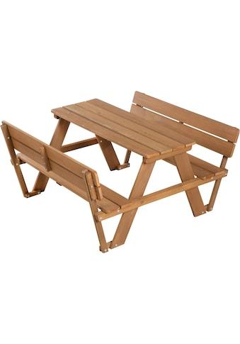 roba® Kindersitzgruppe »Picknick for 4 Outdoor Deluxe, Teakholz«, (Set, 1 tlg.), mit... kaufen