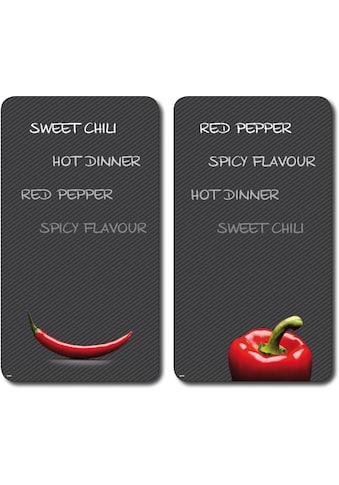 KESPER for kitchen & home Schneide- und Abdeckplatte »Paprika und Chili«, praktisch... kaufen