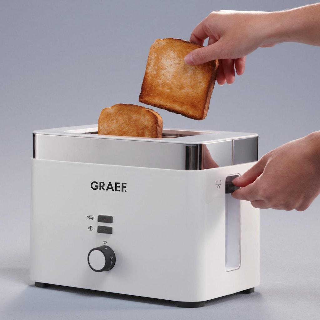 Graef Toaster »TO 61«, für 2 Scheiben, 888 Watt