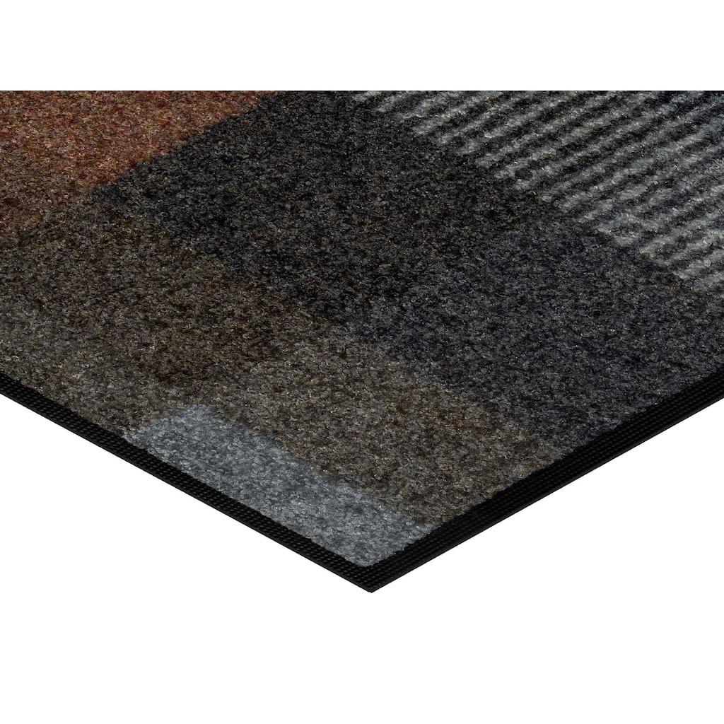 wash+dry by Kleen-Tex Fußmatte »Quadratini«, rechteckig, 7 mm Höhe, Schmutzfangmatte, In- und Outdoor geeignet, waschbar