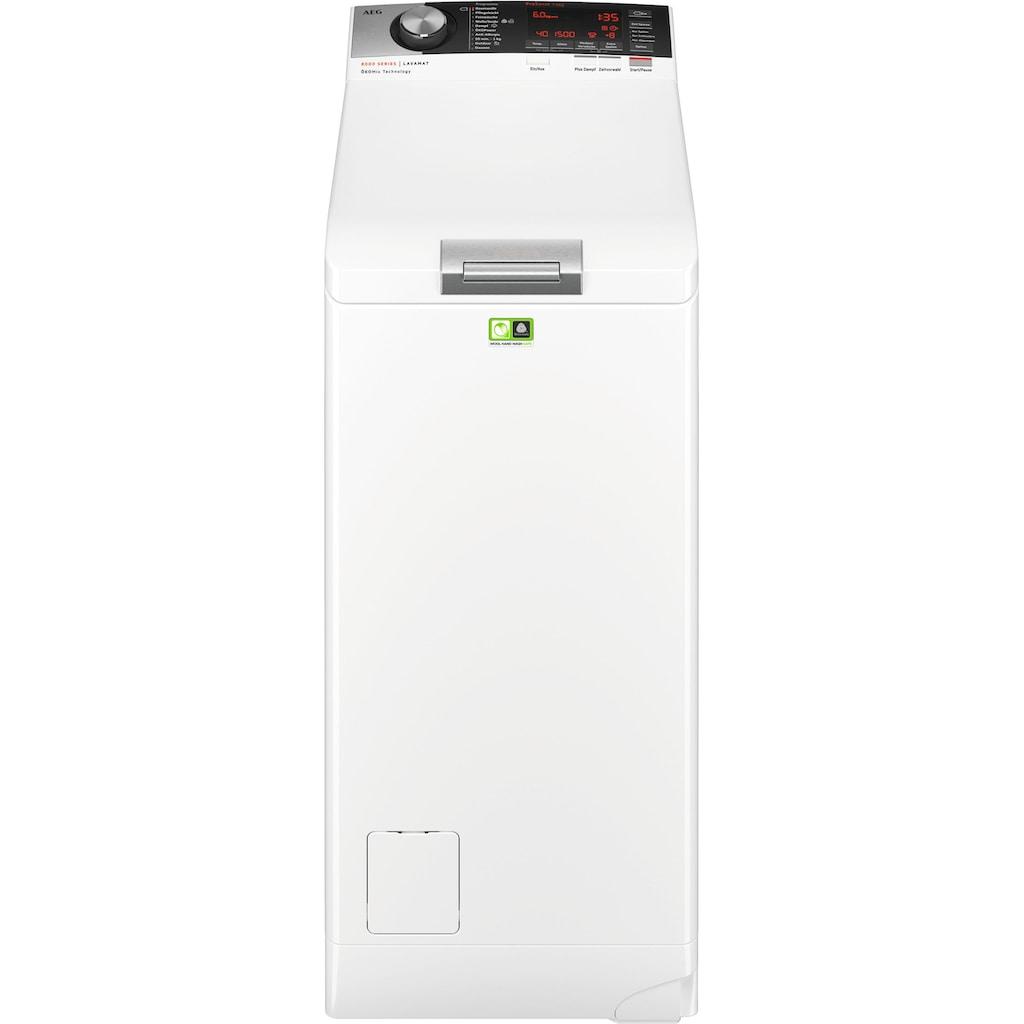 AEG Waschmaschine Toplader »L8TE84565«, L8TE84565, ÖKOMix - Faserschutz