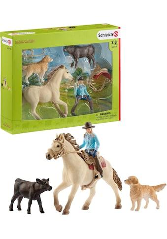 Schleich® Spielfigur »Farm World, Westernreiten (42419)«, (Set) kaufen
