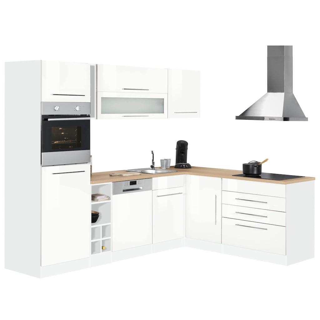 HELD MÖBEL Winkelküche »Eton«, mit E-Geräten, Stellbreite 260 x 190 cm
