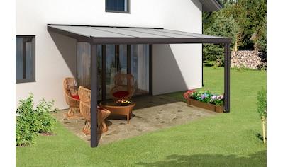 SKANHOLZ Terrassendach »Genua«, Breite: 434 cm, anthrazit kaufen