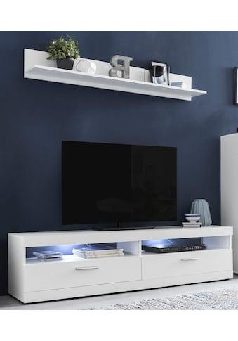 Wilmes Lowboard »MOVE«, Breite 160 cm, inklusive gratis Wandregal, Breite 135 cm kaufen
