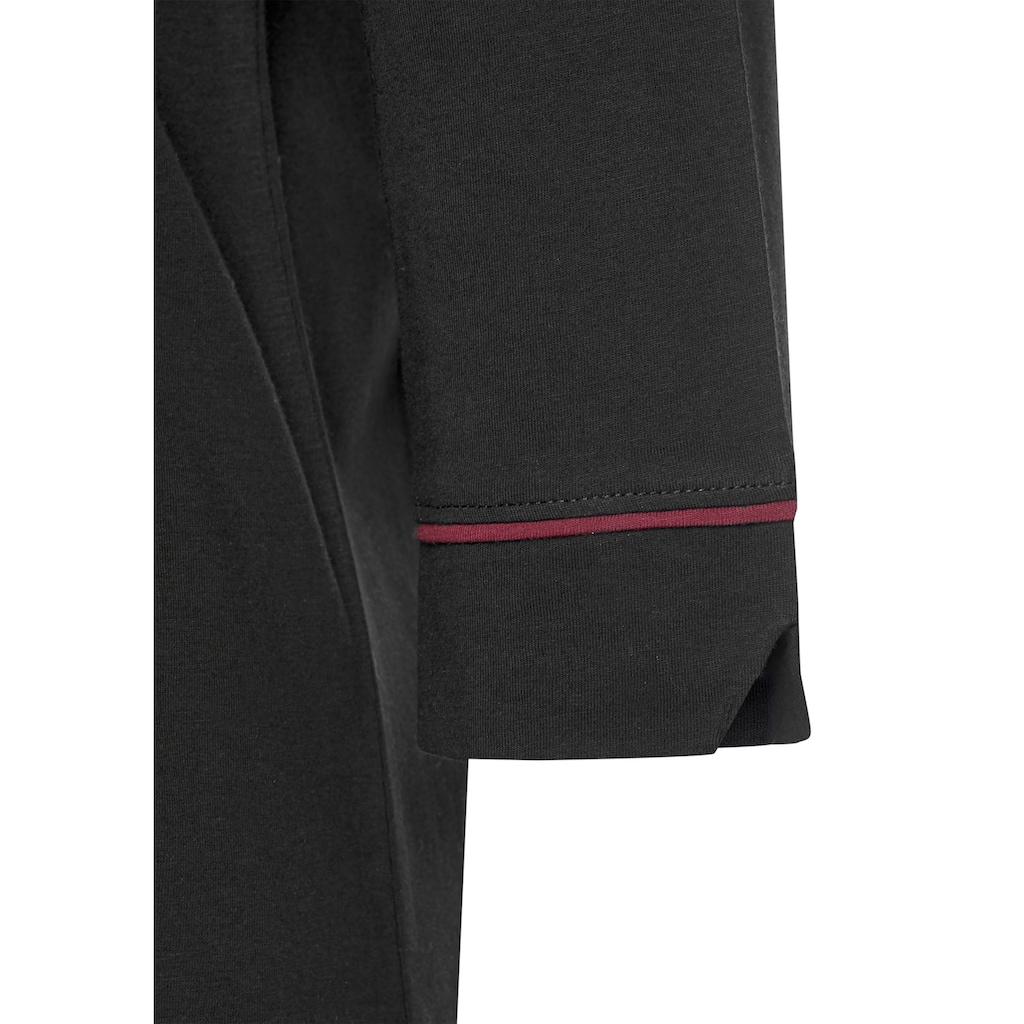 s.Oliver Nachthemd, in klassischem Schnitt mit 3/4-Ärmeln