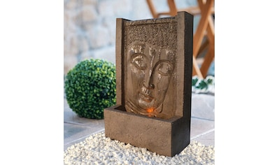 HEISSNER Set: Gartenbrunnen »BUDDHA LED«, BxTxH: 23x12x38 cm, bronzefarben kaufen