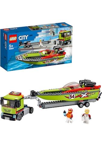 LEGO® Konstruktionsspielsteine »Rennboot-Transporter (60254), LEGO® City Great Vehicles«, (238 St.), Made in Europe kaufen