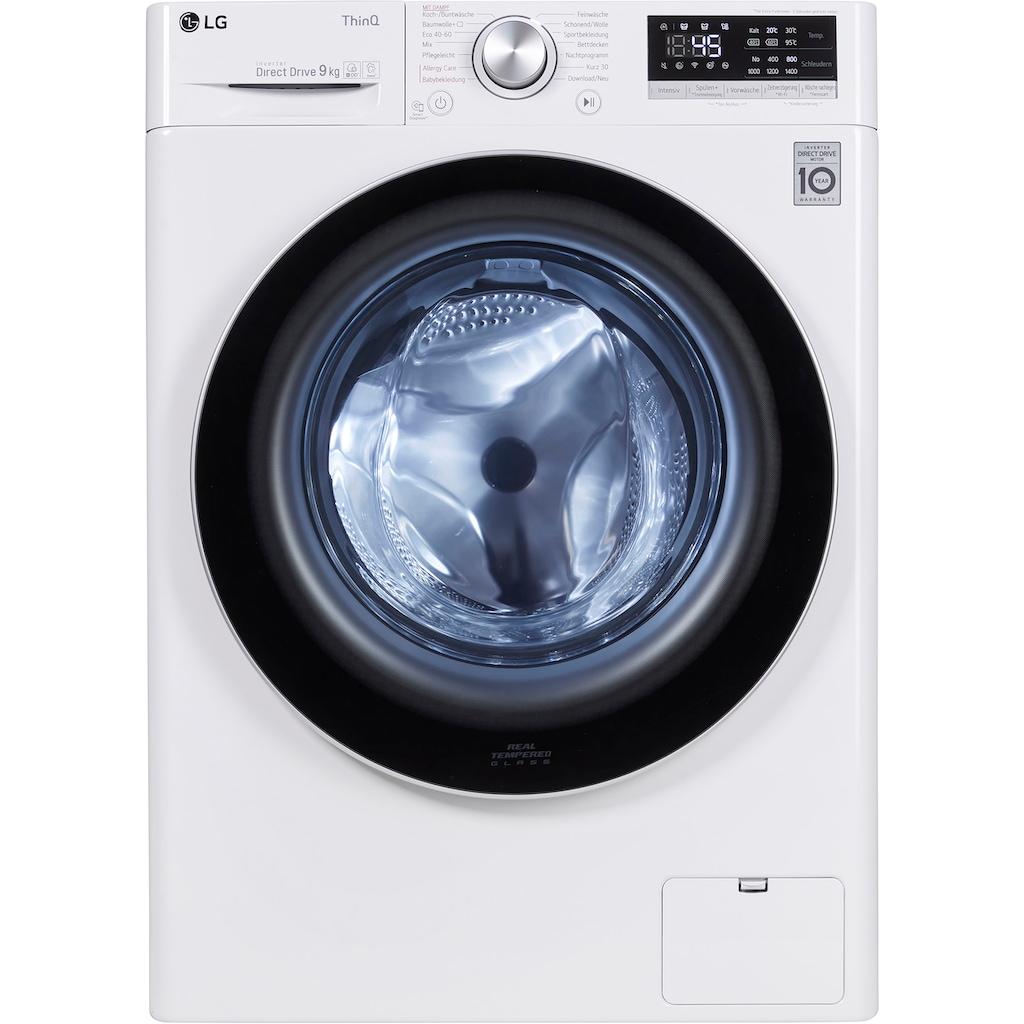 LG Waschmaschine »F4WV409S1«, Serie 4, F4WV409S1, 9 kg, 1400 U/min