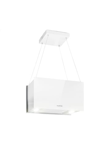 Klarstein Inselabzugshaube 60cm Abluft: 590m³/h LED Touch Glas weiß »Kronleuchter L« kaufen