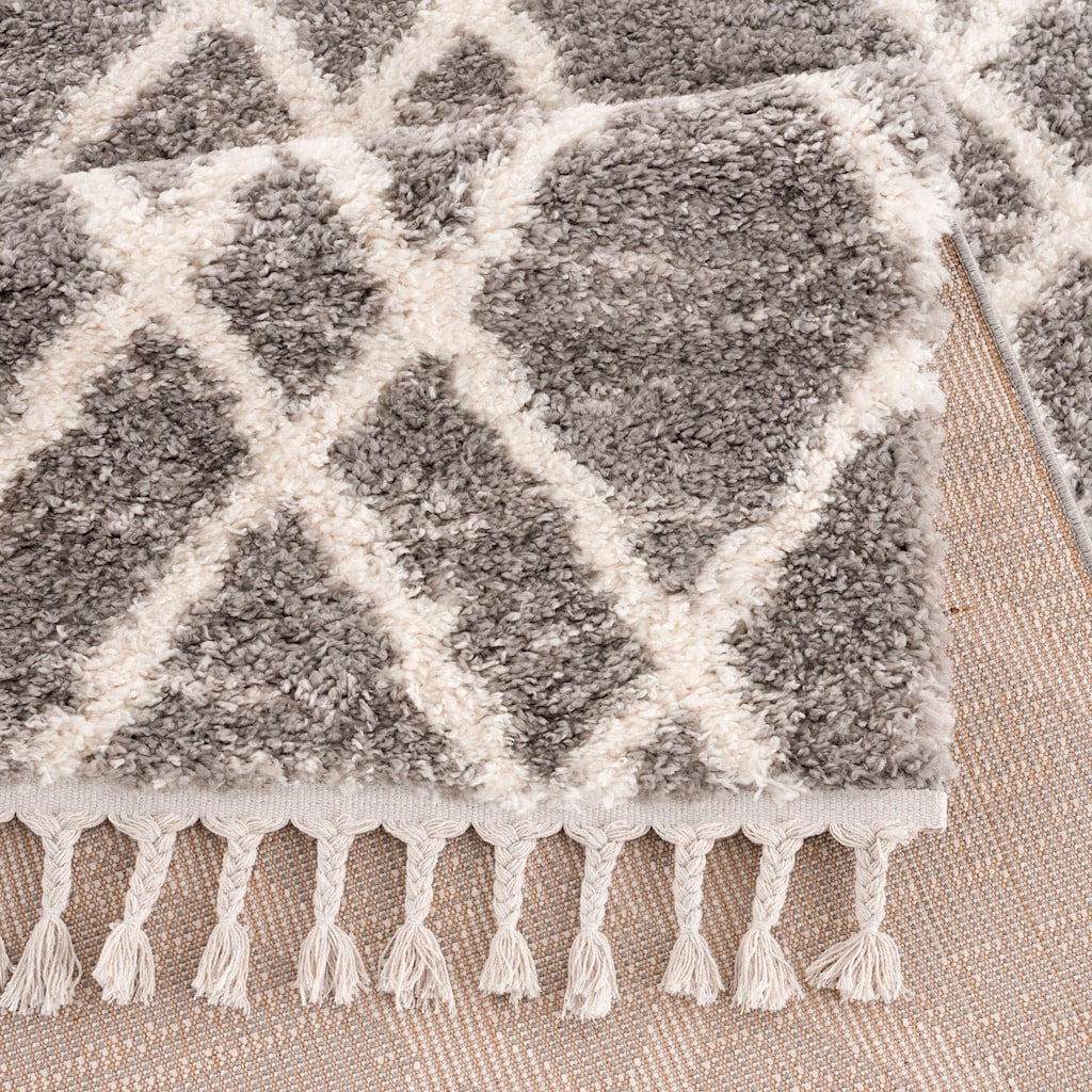 Carpet City Hochflor-Teppich »Pulpy 540«, rechteckig, 30 mm Höhe, mit Fransen