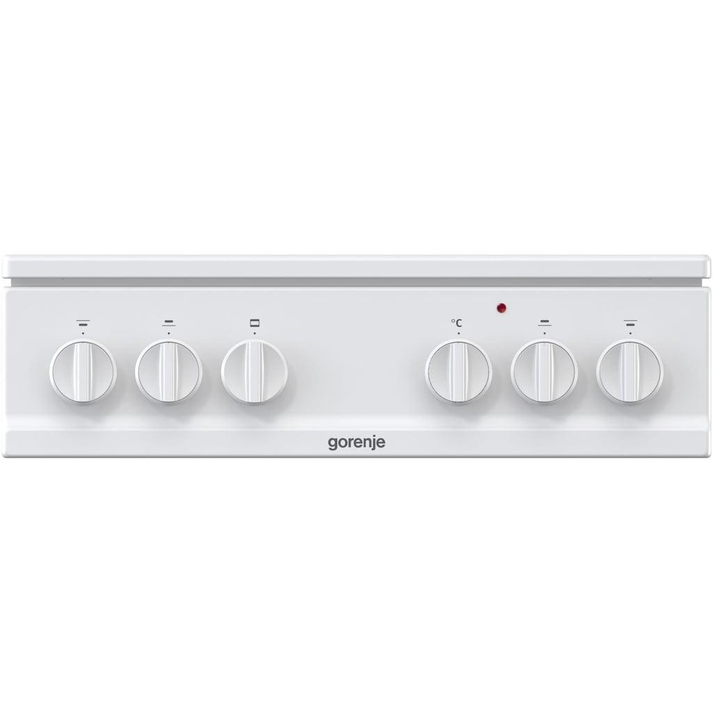 GORENJE Gas-Standherd »K 5151 WH«, K 5151 WH, mit Backauszug