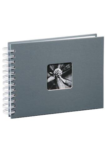 Hama Spiralalbum 24 x 17 cm, 50 weiße Seiten, Fotoalbum, grau kaufen