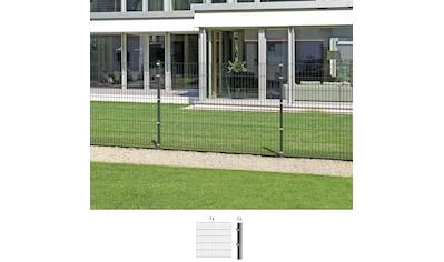 GAH Alberts Doppelstabmattenzaun, Anbauset 140 cm hoch, 1 Matte 2 m, 1 Pfosten kaufen