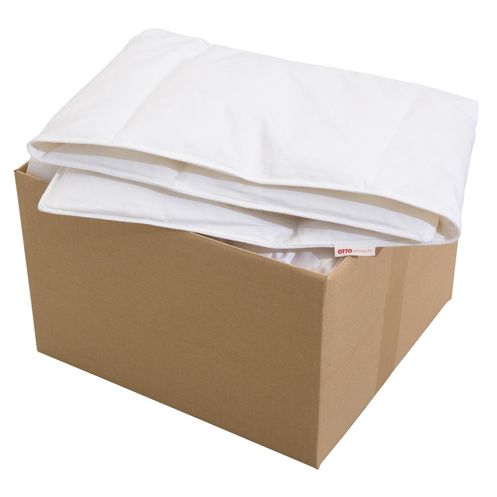 OTTO products Daunenbettdecke »Jannika«, normal, Füllung 80% Daunen & 20% Federn, Bezug 100% Baumwolle, (1 St.), plastikfreie Verpackung