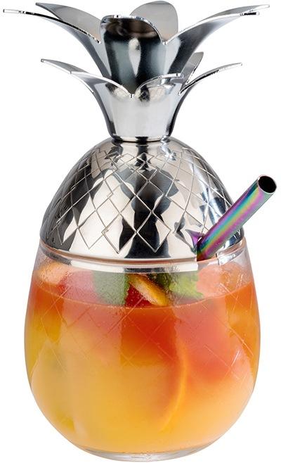 APS Cocktailglas »Pineapple«, aus Glas/Edelstahl, 0,5 Liter günstig online kaufen