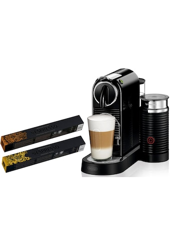Nespresso Kapselmaschine »NESPRESSO CITIZ EN 267.BAE«, mit Aeroccino Milchaufschäumer und je 5 Kapsel-Pakete Genova Livanto & Ispirazione Venezia im Wert von 39,- € UVP kaufen
