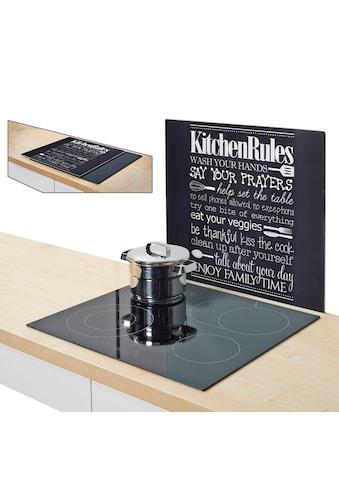 """Zeller Present Herdblende - /Abdeckplatte """"Kitchen Rules"""", ESG - Sicherheitsglas, (1 - tlg.) kaufen"""