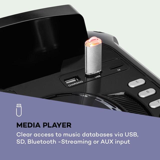 "Auna PA-Anlage 10"" Woofer 50/150W UHF-Mikro USB SD BT »Moving 100«"