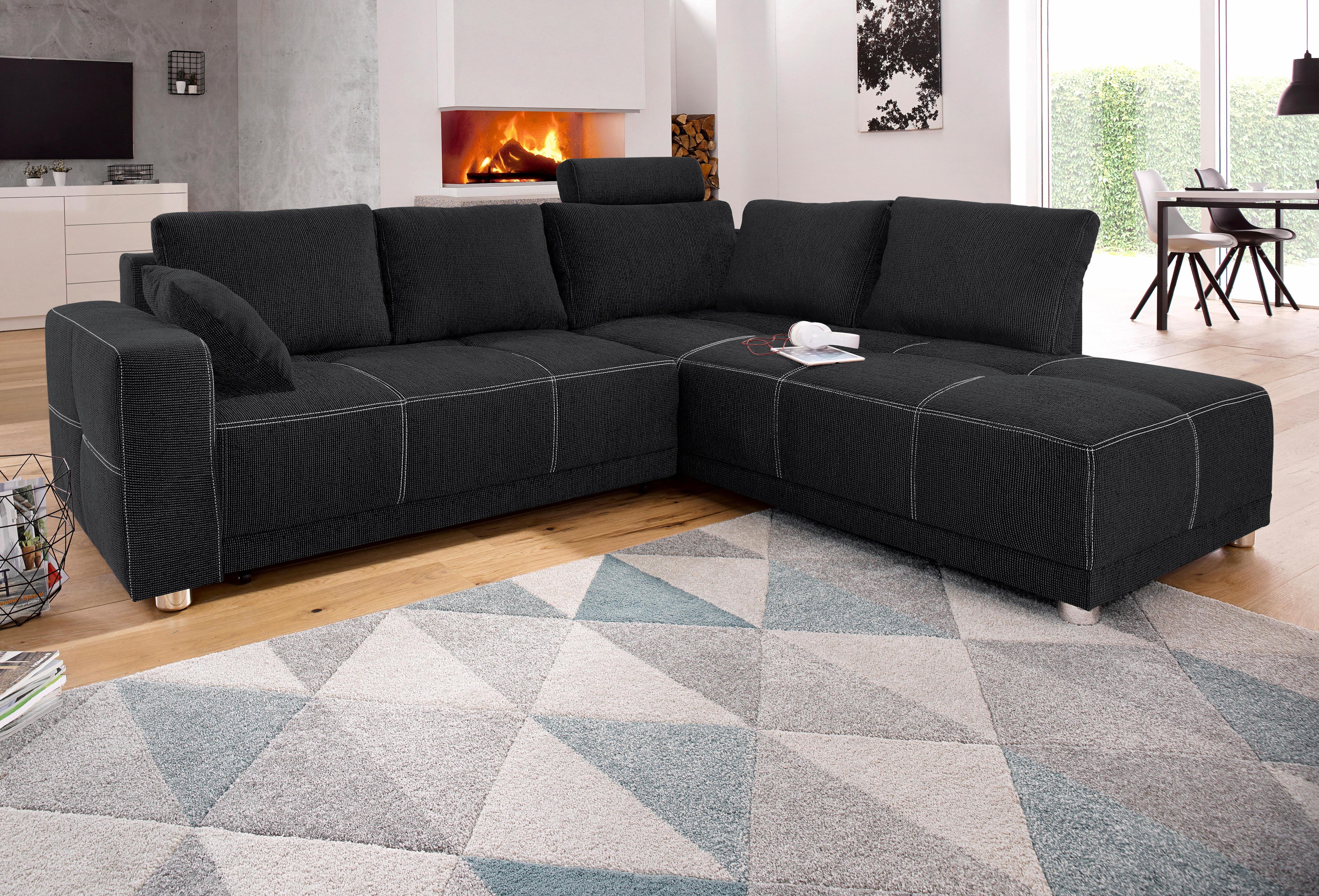 places of style ecksofa auf rechnung bestellen. Black Bedroom Furniture Sets. Home Design Ideas